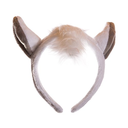 Wildlife Tree Plush White Horse Ears Headband Accessory for Horse Costume, Cosplay, Pretend Animal Play or Farm Party Costumes