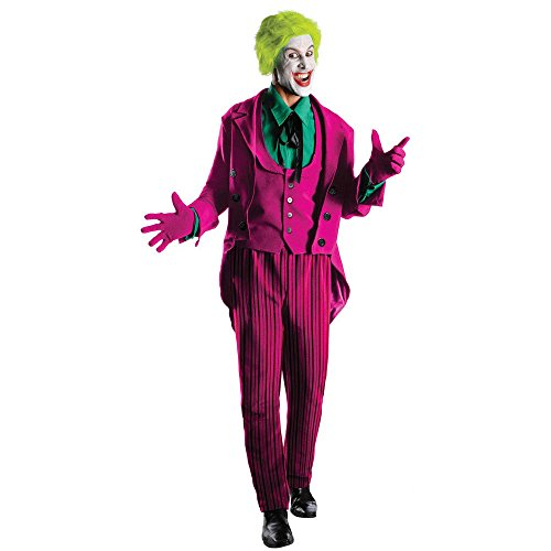 Warner Bros. Men's Batman 1966 Joker Grand Heritage Costume Standard
