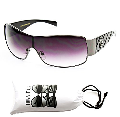 A193-vp Style Vault Aviator Turbo Sunglasses (1320 gunmetal/black/lion - Sunglasses Logo A