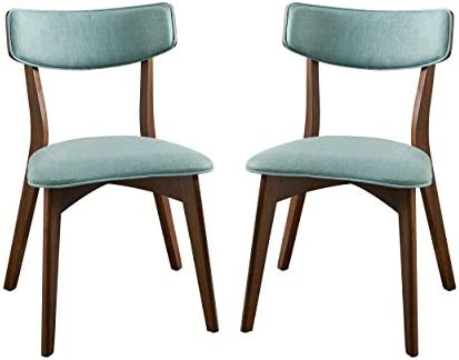 Christopher Knight Home Abrielle Mid-Century Modern Fabric Dining Chairs