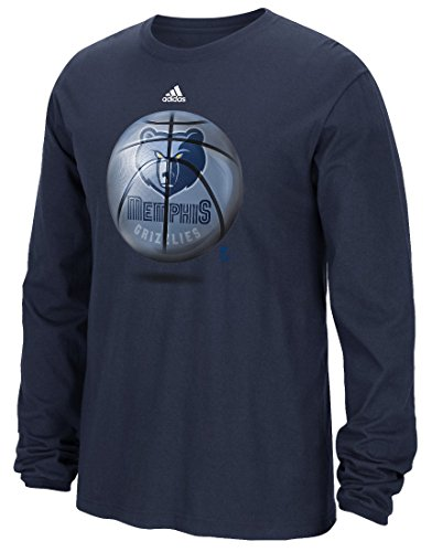 adidas Memphis Grizzlies NBA Logo Ball Premium Print L/S Men's T-Shirt