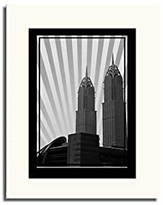 Al Kazim Towers Metro - Black And White No Text F05-nm (a3) - Framed