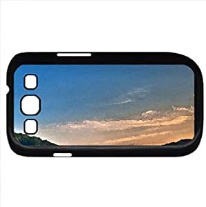 moon over cornfield (Fields Series) Watercolor style - Case Cover For Samsung Galaxy S3 i9300 (Black)