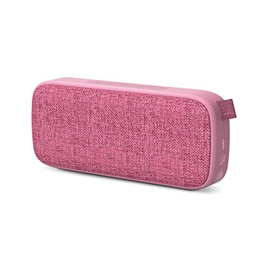 Energy Sistem Fabric Box 3+ Altavoz Bluetooth Trend Grape (TWS, Bluetooth v5.0, 6 W, USBµSD MP3 Player, FM Radio) Rosa