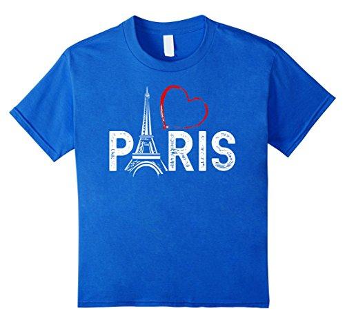 Kids I love Paris. Je T'aime Tee Shirt 10 Royal Blue
