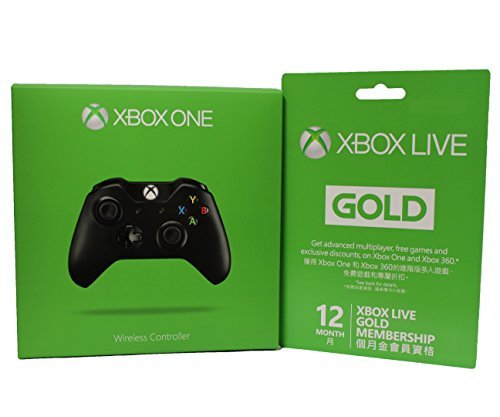 Microsoft Xbox LIVE 12 Month Gold Membership + Xbox One Wireless Controller by Microsoft