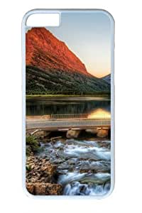 The Glacier National Park At Sunrise PC Case Cover for iphone 5 5s and iphone 5 5s inch White