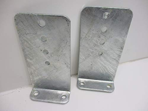 CTW (2) Vertical Pontoon Boat Trailer Bunk Bolster L Brackets / 5