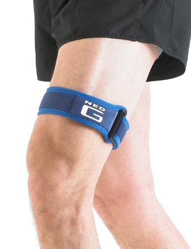 Neo G ITB Band for Knee -Strap For Jumpers Knee, Tendonitis, Joint Pain, Tendon Overuse, Basketball, Running, Soccer, Tennis - Adjustable Compression Support - Class 1 Medical Device - One Size - Blue