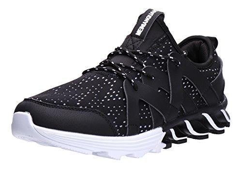 Mode Pour Hommes Joomra Les Chaussures De Course 39-45 Avec 20 Couleurs 825 Noir