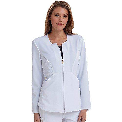 - Careisma by Sofia Vergara Women's Angelina Zip-up Solid Scrub Jacket XX-Large White