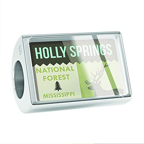 NEONBLOND Charm National US Forest Holly Springs National Forest 925 Sterling Silver Bead