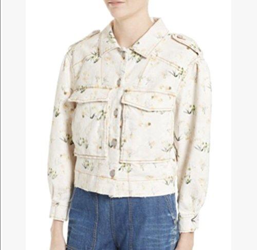 Rebecca Taylor Women's Firefly Floral Denim Jacket (Taylor Jacket Denim)