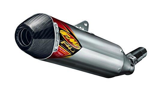 FMF Racing Factory 4.1 RCT Slip-On - Aluminium Muffler - Stainless Steel Midpipe - Carbon Endcap, Color: Natural, Material: Aluminum -
