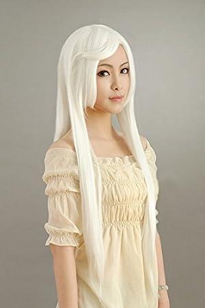 GSSO Inuyasha 1M la peluca peluca de cosplay recta larga blanca pura fiesta de Halloween