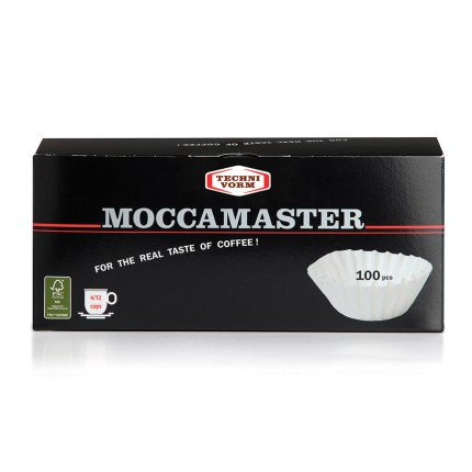 Technivorm Moccamaster 85025 Moccamaster filters Flat Bottom Paper Grand Brewers-100 ct, One Size