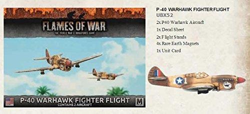 Flames of War 4th Edition US P-40 Warhawk Fighter Flight UBX52 P-40 Warhawk Flight