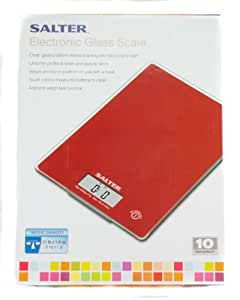 Salter Electronic Glass Scale (Red)