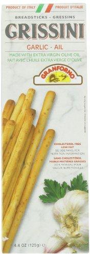 Granforno Breadsticks (Granforno Grissini Breadsticks, Garlic, 4.4-Ounce Boxes (Pack of 12) by Granforno)