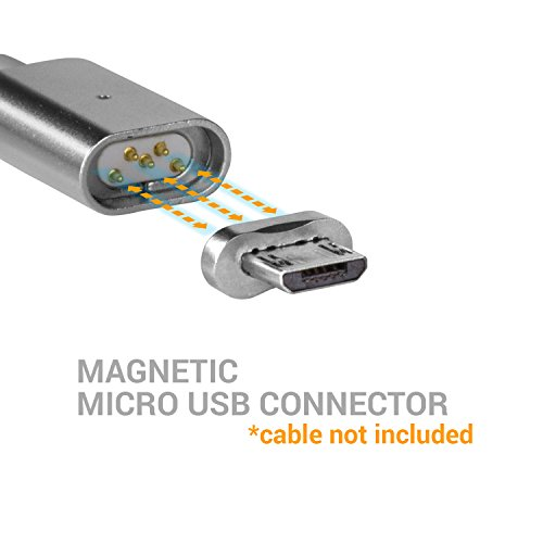SOJITEK Genuine Magnetic Charging / Data Sync Connector (Connector ONLY) for Micro USB / Android Phone