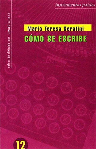 Como Redactar Un Tema Maria Teresa Serafini Epub Download