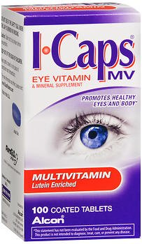 ICaps MV Multivitamin Coated Tablets - 100 ct, Pack of 2