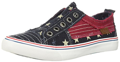 - Blowfish Women's Play Sneaker, Navy Star, 9 M US