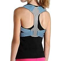 ROCONTRIP Back Posture Corrector, Ergonomic Upper Back Shoulder Brace Clavicle Support for Women Chiledren Help Improve Posture Shoulder Neck Pain Relief