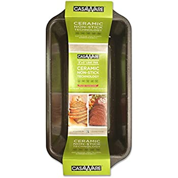 Amazon Com Casaware Loaf Pan 9 X 5 Inch Ceramic Coated