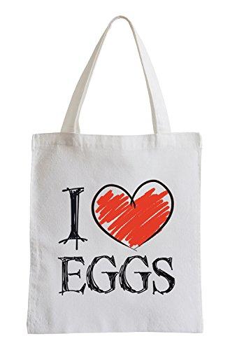 Amo uova Fun sacchetto di iuta