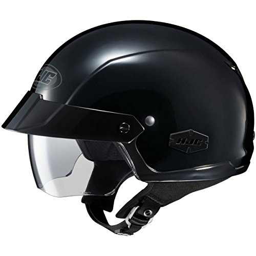 HJC Solid IS-Cruiser Half (1/2) Shell Motorcycle Helmet - Black/Large ()