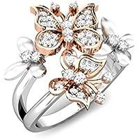 Wassana Butterfly 2.3ct White Topaz Women 925 Silver Wedding Engagement Ring Size 6-10 (9)