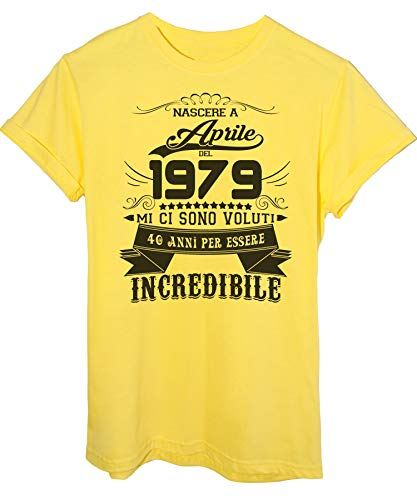 Aprile 2019 Del shirt Eventi Giallo Essere 1979 Nato 40 T Ad Incredibile Anni Image Per Compleanno tFwYqq0