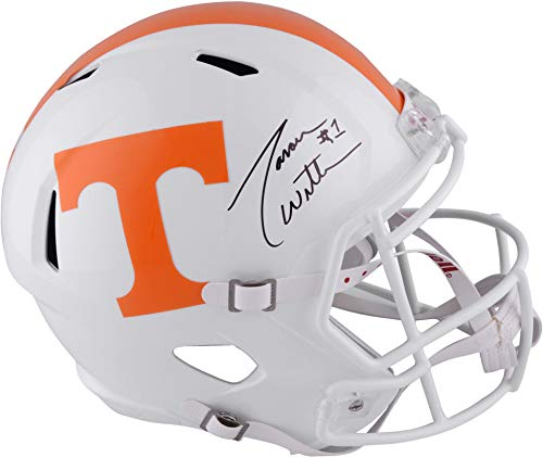 (Jason Witten Tennessee Volunteers Autographed Riddell Replica Helmet - Fanatics Authentic Certified - Autographed College Helmets)