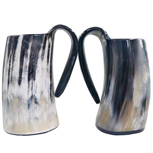 Viking Drinking Mug-Natural Ox Horn Drinking Mugs Beer Cups Viking Mugs by HORATII (Image #1)