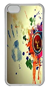 Abstract Art Design Polycarbonate Hard Case Cover for iPhone 5C Transparent