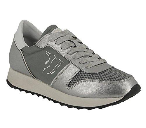 col jeans Trussardi 79S045XX 212 khaki sneaker silver UZFvq