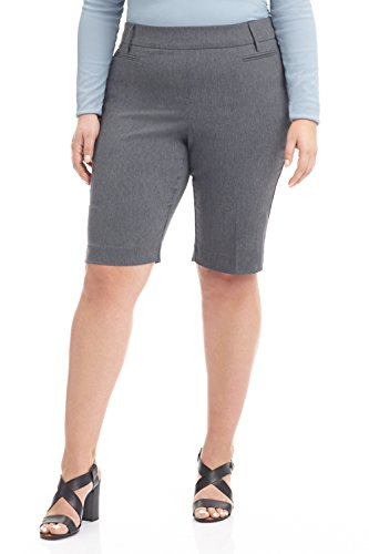 Rekucci Womens  Ease In To Comfort  Curvy Fit Modern City Short  14W Charcoal