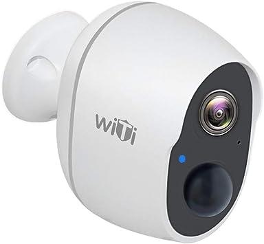 Opinión sobre WiTi Cámara de Batería Recargable, Cámara de Seguridad Inalámbrica WiFi para el Hogar, Detección de Movimiento PIR Preciso y Visualización Remota, Monitor de Bebé con Audio de Dos Vías