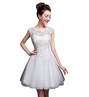 Drasawee Women's Short Appliques A Line Lace Homecoming Prom Cocktail Party Dress