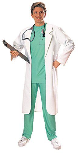 Mens Flashdance Costume (Adult Doctor's Costume White Lab Coat Scientist Coat Rubies Mens 44 Chest)