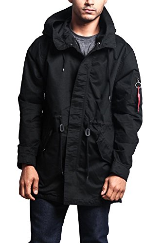 G-Style USA Men's MA-1 Bomber Style Anorak Jacket - JK715 - Black - Small - - Style Cheap Mens