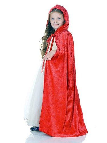 [Little Girls Princess Cape] (Halloween Costume Little Red Riding Hood)