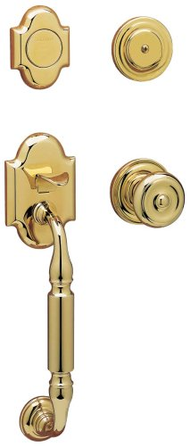 Baldwin 85305.003.FD Canterbury Sectional Trim Dummy Handleset with Colonial Knob, Lifetime Polished Brass