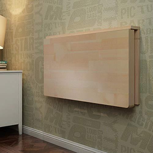 FCXBQ Väggmonterad droppblad bord massivt trä väggbord fällbart matbord sparare konvertibel skrivbord vikbar (storlek: 120 x 50 cm)