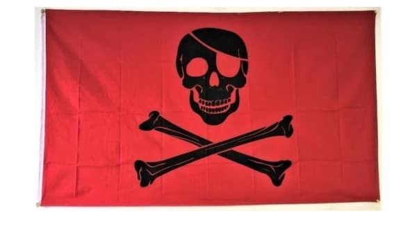 5/' x 3/' Pirates of the Caribbean Flag Skull and Crossbones Party Banner