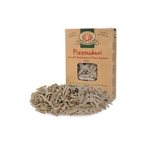 Rustichella d'Abruzzo Pizzoccheri with Buckwheat - 8.8 Ounce (1 Pack)