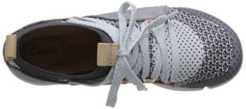 Mujer Clarks Combi Grey Tri Amelia para Zapatillas Gris r6xrqCIP