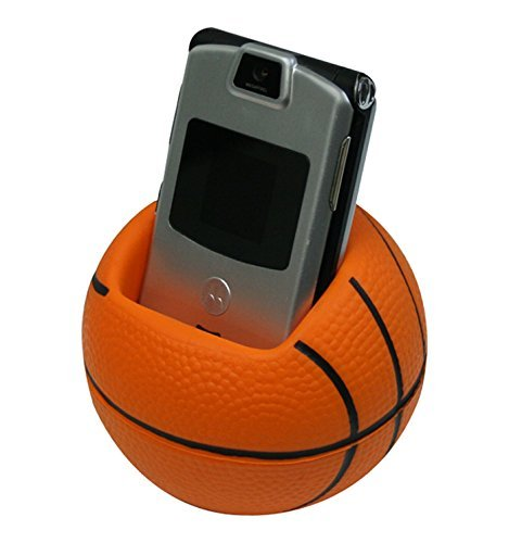 Sports Ball - Basketball Stress Reliever Cell Phone Holder - Orange - Promotional Product - Your Logo Imprinted (Case Pack 100) (Imprinted Balls Stress)