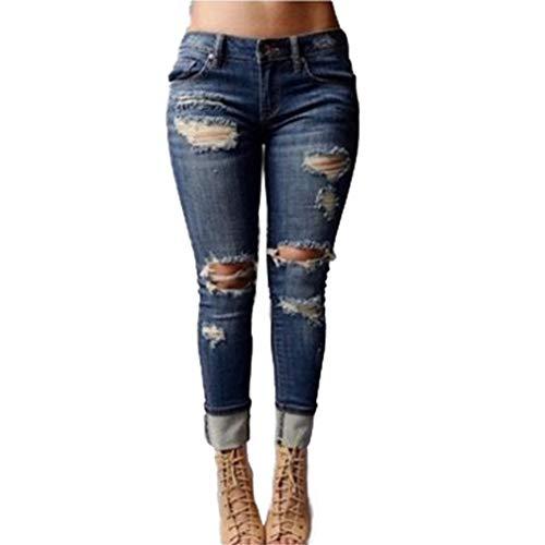 Push Leggings De Mujer Skinny EláSticos Ropa Rotos 2XL Pantalones Ocio Estrechos Pantalones Bolsillos Hibote Vaqueros S Jeans Estilo Up 1 qSwzZFExF